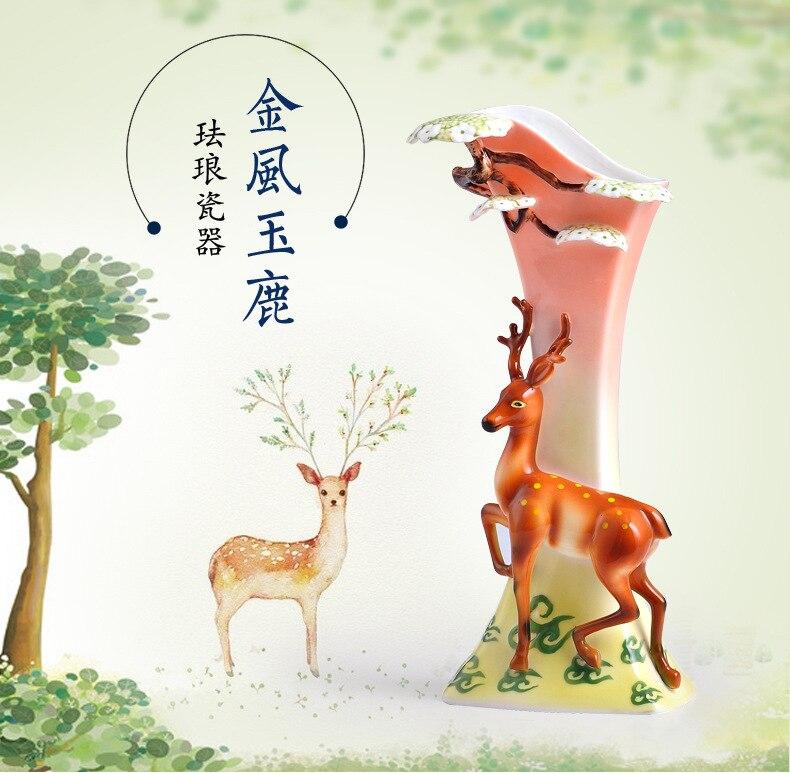 Классические часы колокольчик сливы езды на украшения с оленями дома гостиной красивые часы настольные часы китайские часы работы - 6