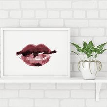 The Red Lips Minimalist Canvas Painting Decoration Oil Print Poster Wall Art HD Picture For Living Home Bedroom Decor