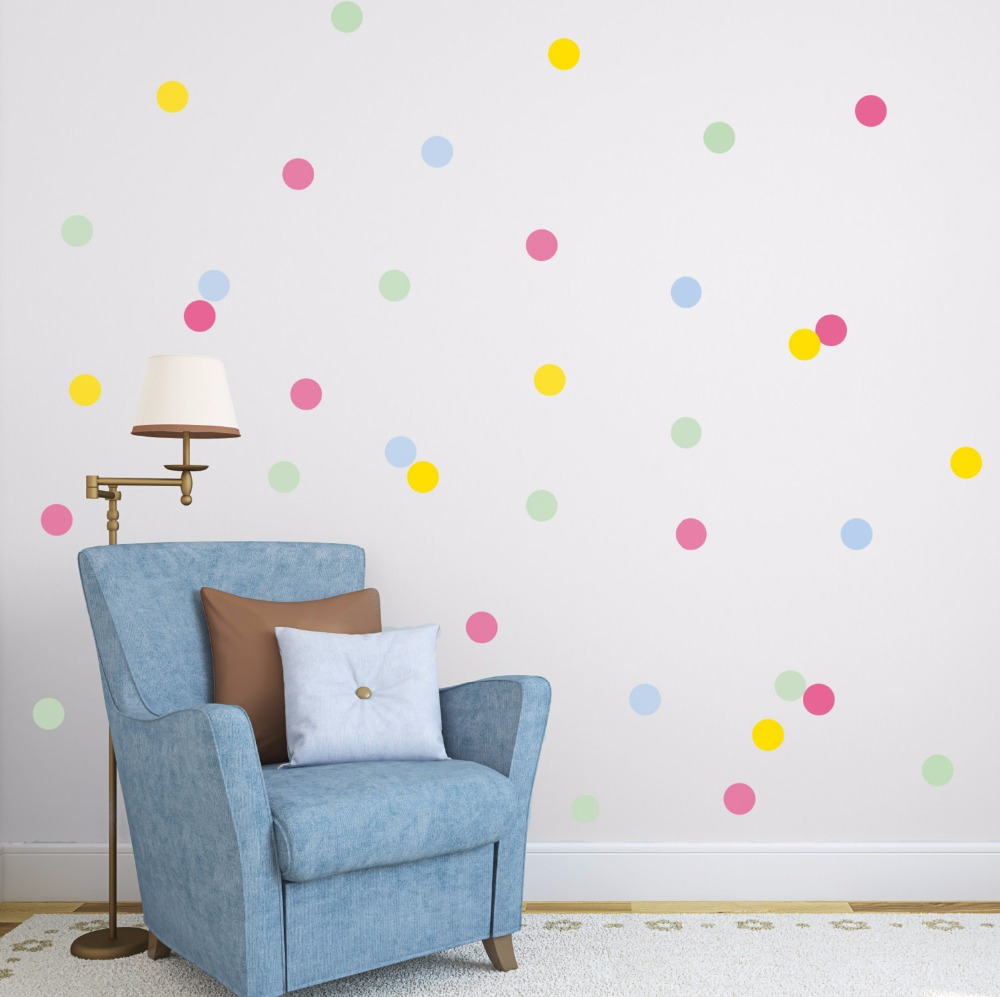 24pcs rainbow multi color size confetti polka dots circles vinyl 24pcs rainbow multi color size confetti polka dots circles vinyl decals wall stickers for home decorm2s1 in wall stickers from home garden on amipublicfo Images