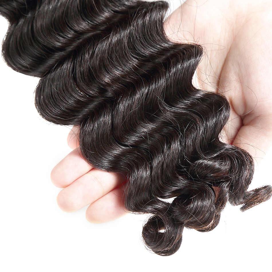 """Pelo ILARIA visón 8A pelo virgen brasileño onda de agua 4 paquetes 10 """"-30"""" armadura de cabello humano sin procesar paquetes completos de Color Natural"""