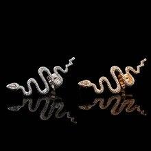 WLP jewelry 2017 New Fashion heart snake earring Punk Rhinestone Clip Earrings For Women Angel Wing heart Earring new Ear Cuff