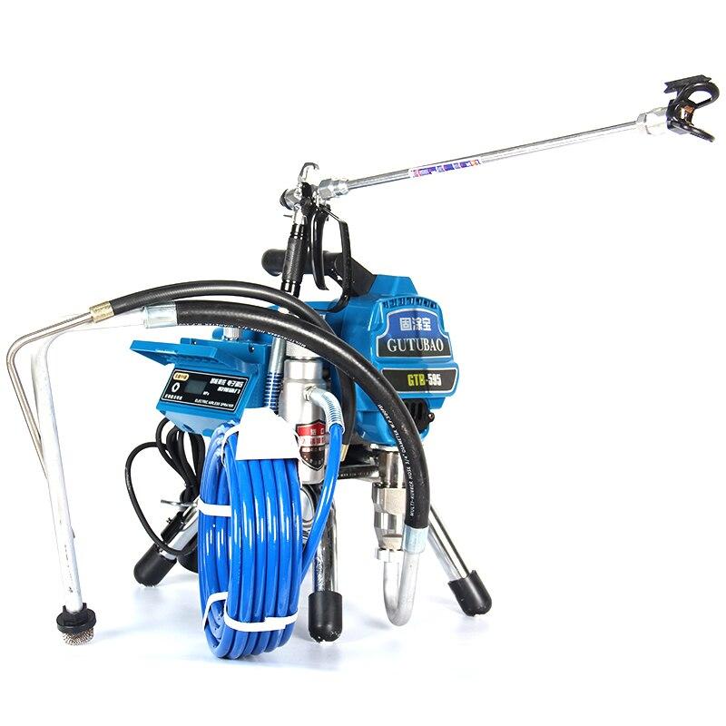 Profissional airless máquina de pulverização pistola airless profissional 2800 w 3.0l pulverizador mal ventilado pintura 595 máquina ferramenta