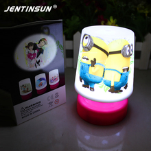 Mini Cartoon Minions LED Night Light Small Cute Minions Table Desk Lamp Led Nightlights For Children Girls Baby Gift Sleeping