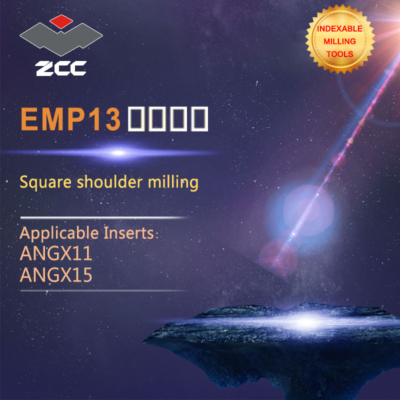 ZCC.CT Square shoulder milling cutters EMP13 high performance CNC lathe tools indexable milling tools