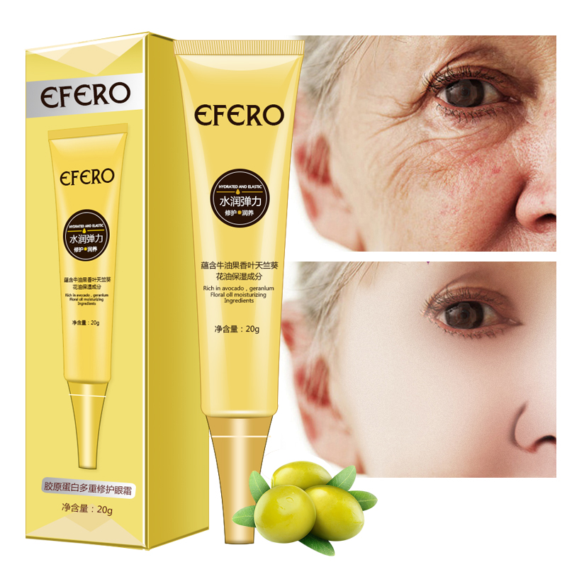 Anti Wrinkle Eye Cream Skin Care Anti-Puffiness Moisture Hyaluronic Acid  Eye Cream Dark Circle Anti-Aging Firming Eye Skin EFERO