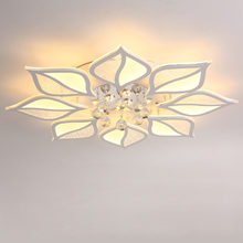 Modern Luxury Crystal Led Chandelier Ceiling With Remote Control Living Room Bedroom Light Acrylic Lamp Decor Home Lighting 220V modern crystal led light lighting living room peacock ceiling chandelier lamp