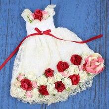 Наряды для куклы Blyth, платье с красным цветком, костюм для 1/6, azone BJD pullip licca