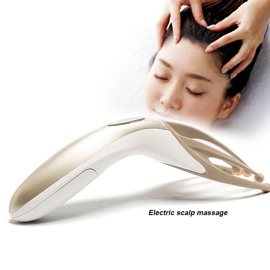 Masajeador de Cabeza de Vibración Eléctrica Masajeador Shiatsu Agarrador de Dedos para la Rejalación del Cuerpo y Alivio de Fatiga Cuidado de Salud Portátil