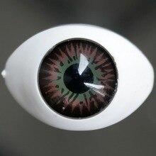 wamami 23mm Blue Bloodshot Acrylic Eyes Glassless Boat shaped For BJD Dollfie