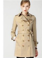 High quality womens england style double-breasted trench coat 2018 autumn dust women D339