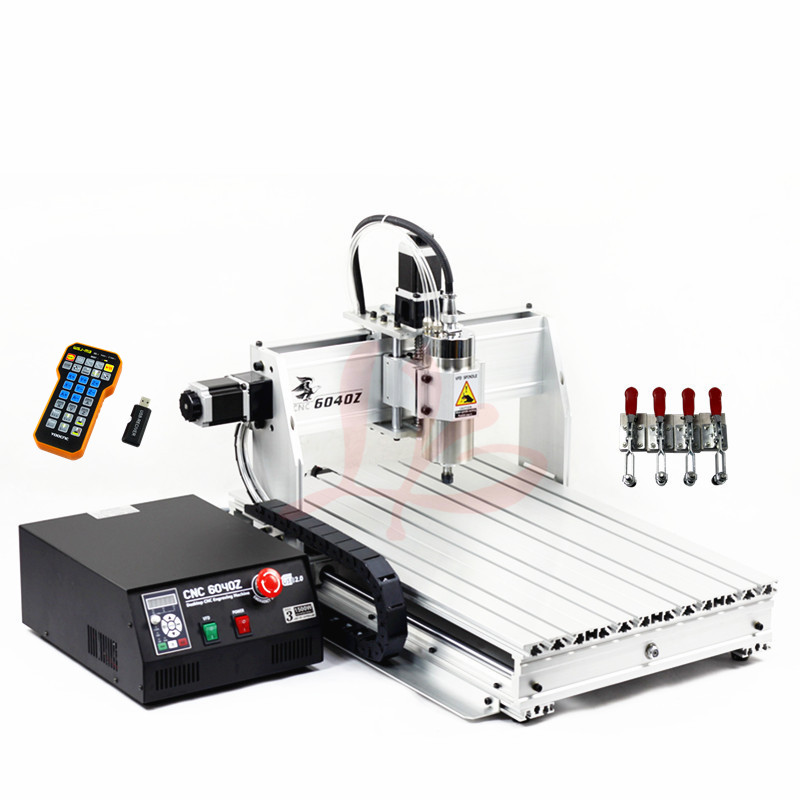 Mini CNC Router 6040 Z-USB Mach3 Auto CNC milling machine with 1.5KW VFD spindle and USB port+4pcs clamp tools 1pc 4axis cnc router 6040z usb mach3 auto engraving machine with 1 5kw vfd spindle and usb port for hard metal 110 220v