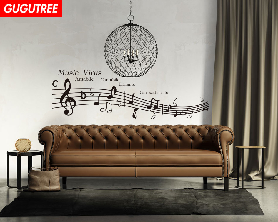 Decorate Home 57x63cm Music Virus art wall sticker decoration Decals mural painting Removable Decor Wallpaper LF-395 image