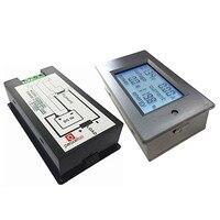 Peacefair PZEM-051 dc 6.5-100ボルト50a 4 in1はデジタルlcd電圧電流電力エネルギー電圧計電流計パネルメーター+ 50aシャント