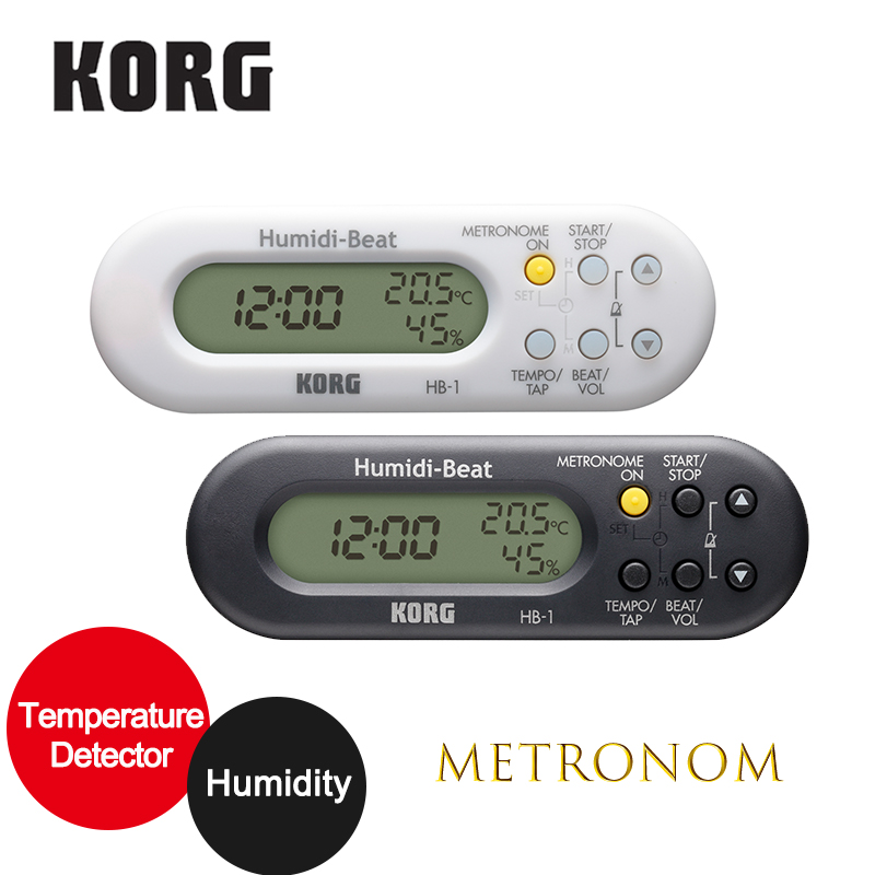 KORG Humidi Beat HB1WH Metronome with Humidity/Temperature Detector,Violin/Sax Metronome, brass band or orchestra Metronome