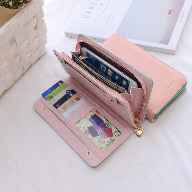 sports shoes 2490f 2bd13 US $12.98  Famous Brand Women Wallets Ladies Clutch Female Case Mobile  Phone Femininas Money Purse Card Holder Large Capacity Coin Wallet-in  Wallets ...