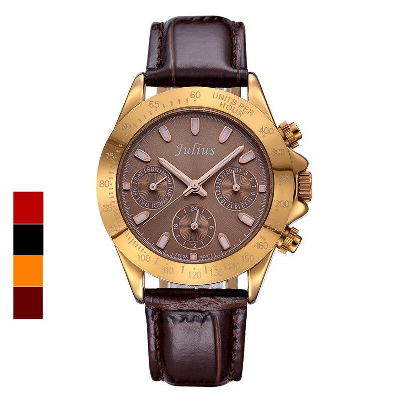 ФОТО Real Functions Julius Women's Watch Swiss Quartz Hours Fine Fashion Dress Bracelet Sport Leather Birthday Girl Gift Box