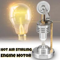 Hot Air Vertical Stirling Engine Motor Model Electricity Generator School Demonstration Early Learning Education Toy For Kid