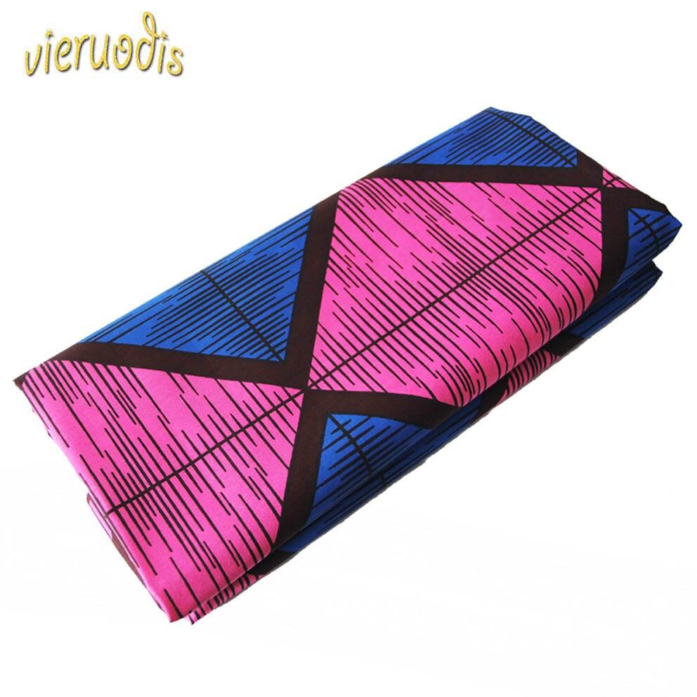 6 Yards africain cire imprime tissu néerlandais 100% coton tissus matériel Dashiki Batik véritable Floral pour robe A000238 - 2