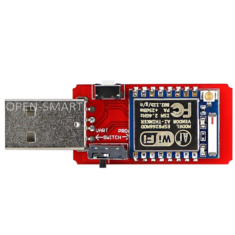 Open-smart usb para esp8266 ESP-07 wi-fi módulo embutido antena 2.4g serial transceptor para ESP-07 de depuração de programação de firmware