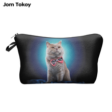 Jom Tokoy 3D Printing Makeup Bags With Multicolor Pattern Cute Cosmetics Pouchs For Travel Ladies Pouch Women Cosmetic Bag HZB03