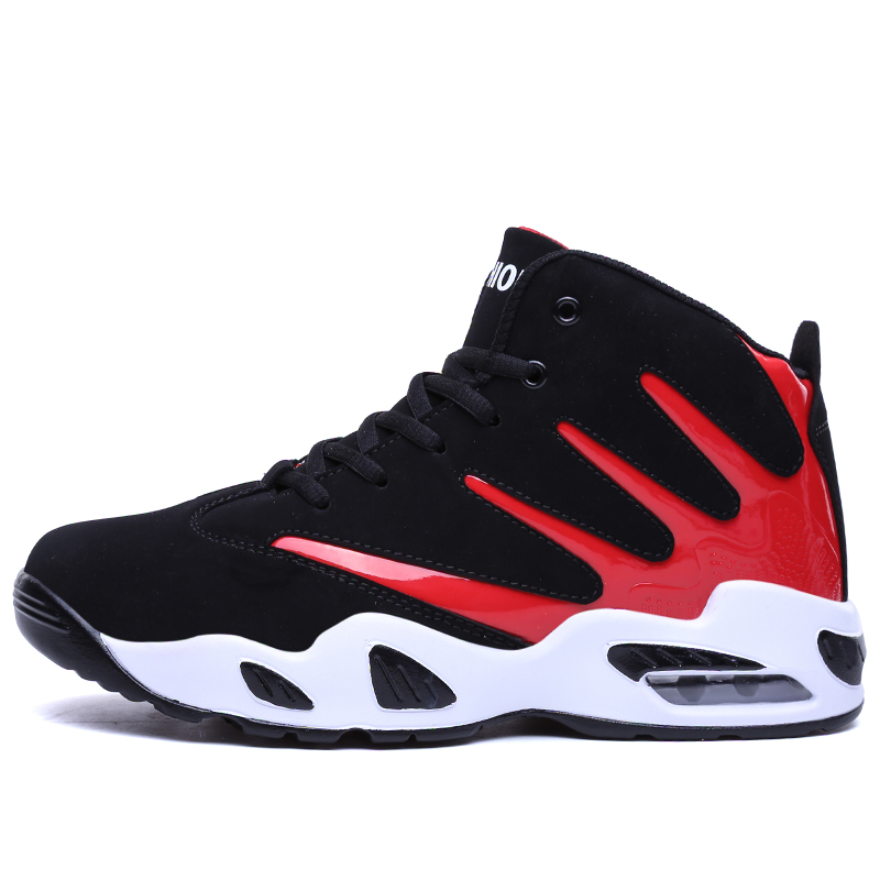 High Top Chaussures Hommes Jordan Rétro Chaussures de Basket-Ball Respirant  Lace Up rouge Formateurs