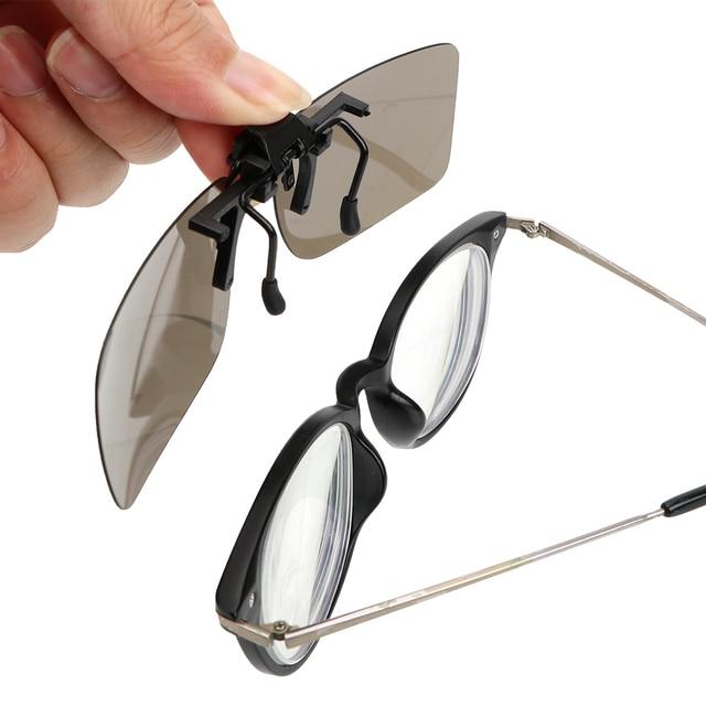 YOSOLO Car Driver Goggles Anti-UVA UVB  Polarized Sun Glasses Driving Night Vision Lens Clip On Sunglasses Interior Accessories 3