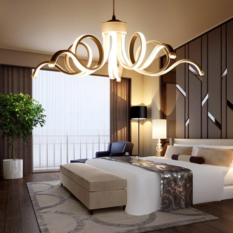 Salon Salle à manger Chambre Pendentif lustre lustre Luminaires Moderne Nordique Loft Suspension lustre Lampe Luminaria Avize