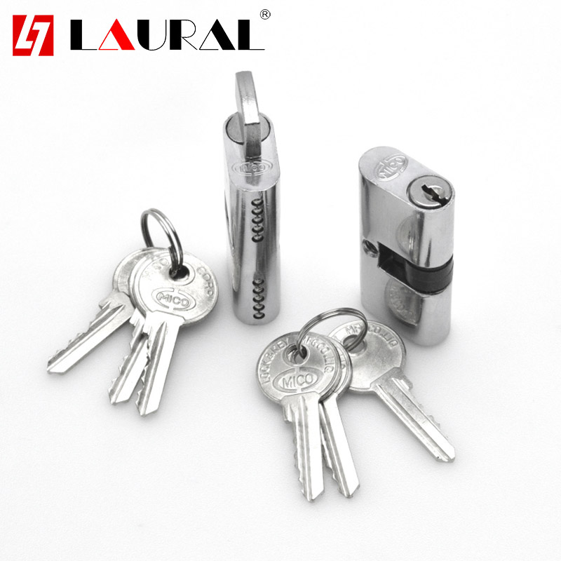 Indoor Door Lock Core 54mm Single Dial Lock Cylinder OB Hole Glass Sliding Door Lock Core Interior Door Lock Cylinder