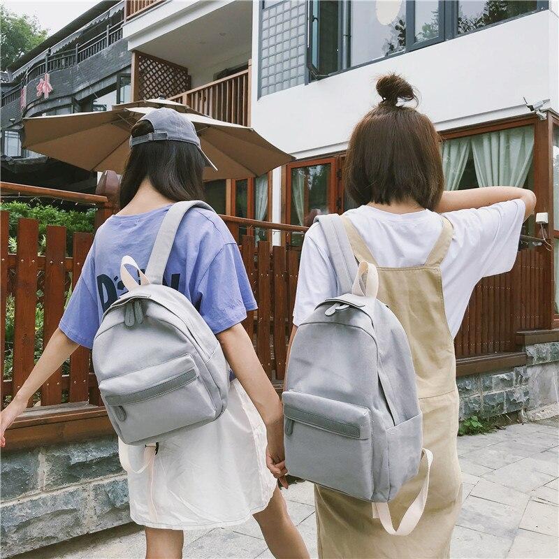 HTB17ZasXIrrK1RjSspaq6AREXXaw 2019 Women Canvas Backpacks Ladies Shoulder School Bag Backpack Rucksack for Girls Travel Fashion Bag Bolsas Mochilas Sac A Dos