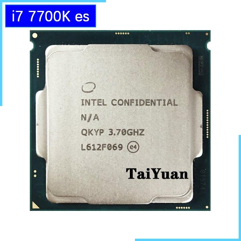 Intel Core i7 7700K ES i7 7700K ES QKYP 3.7 GHz Quad Core Eight Thread CPU Processor 8M 91W LGA 1151-in CPUs from Computer & Office