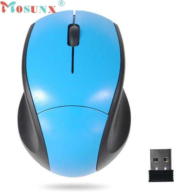 Mosunx Simplestone 2.4 GHz الفئران البصرية ماوس لاسلكي USB استقبال جهاز كمبيوتر شخصي لاسلكية لأجهزة الكمبيوتر المحمول 0120