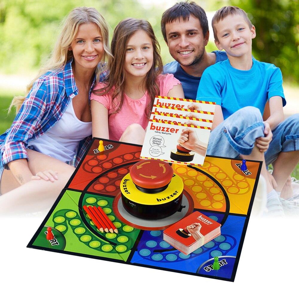 Apprentissage et L'éducation Jouets Buzzer Multi Langue Parler Match Modèle Écrivant Des Jeux Jeunes Enfants En Plein Air Fun Party Jouet