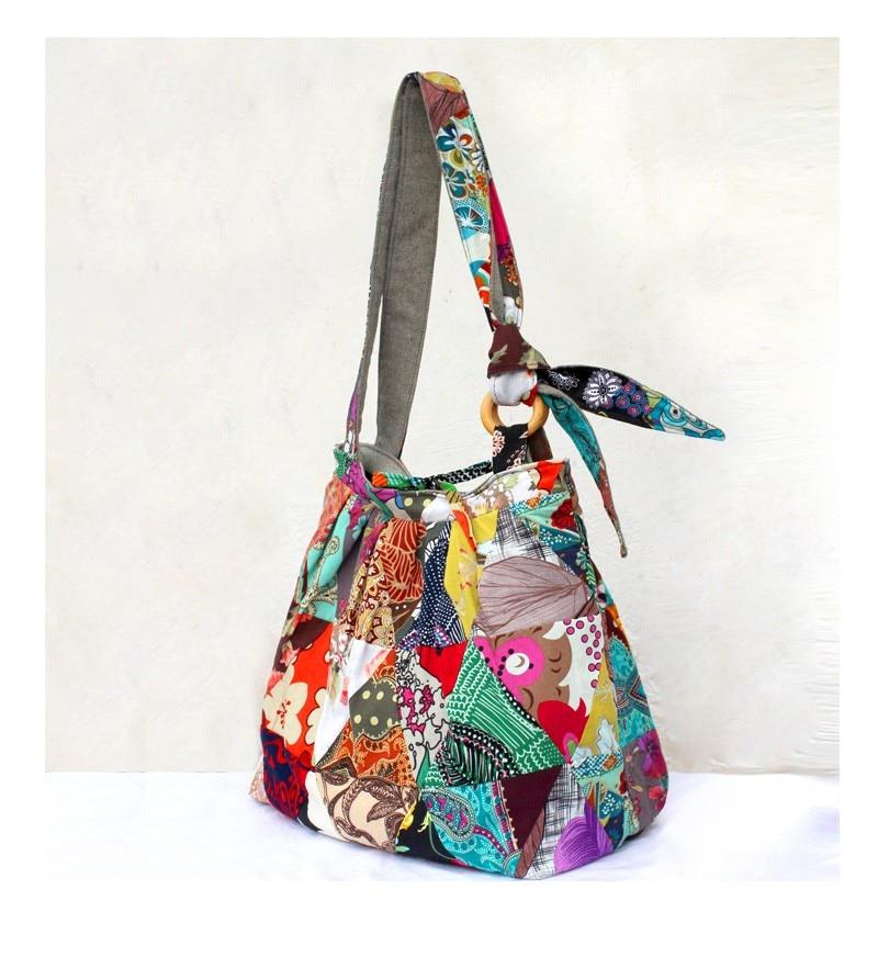 cff1135fd5 Unique Boho Vintage Sturdy Patchwork Bag 2016 new brand Women Shoulder Bag  Designer handbags Large travel tote bags Gift for her-in Shoulder Bags from  ...