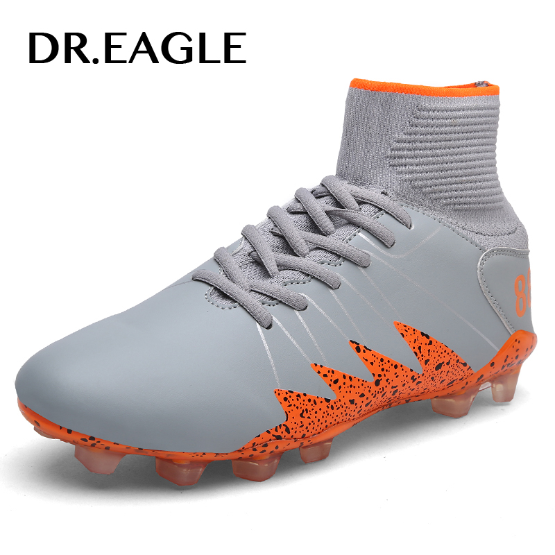 DR.EAGLE High Ankle AG/FG Sole Outdoor training futzalki soccer shoes for Cleats Football Boots Shoes cleats soccer original