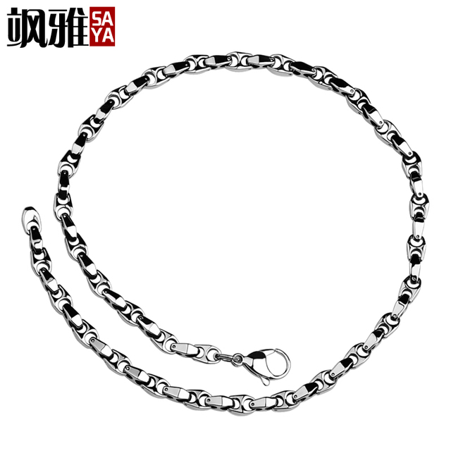 New Arrival Customized 6mm Thickness Tungsten Chain Necklaces For Cool Man Never Fade Scratch Proof Free Shipping