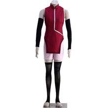 Anime Naruto Cosplay Uchiha Sarada Women Costumes Jacket Sport Suit Whole Set Coats Suits C92 naruto boruto team konohamaru sarada uchiha sarada ninja uniform cosplay costume f008