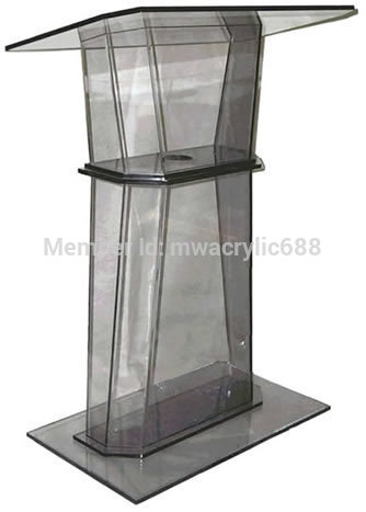 Free Shipping Simple Elegant Acrylic Podium Pulpit Lectern Podium Plexiglass