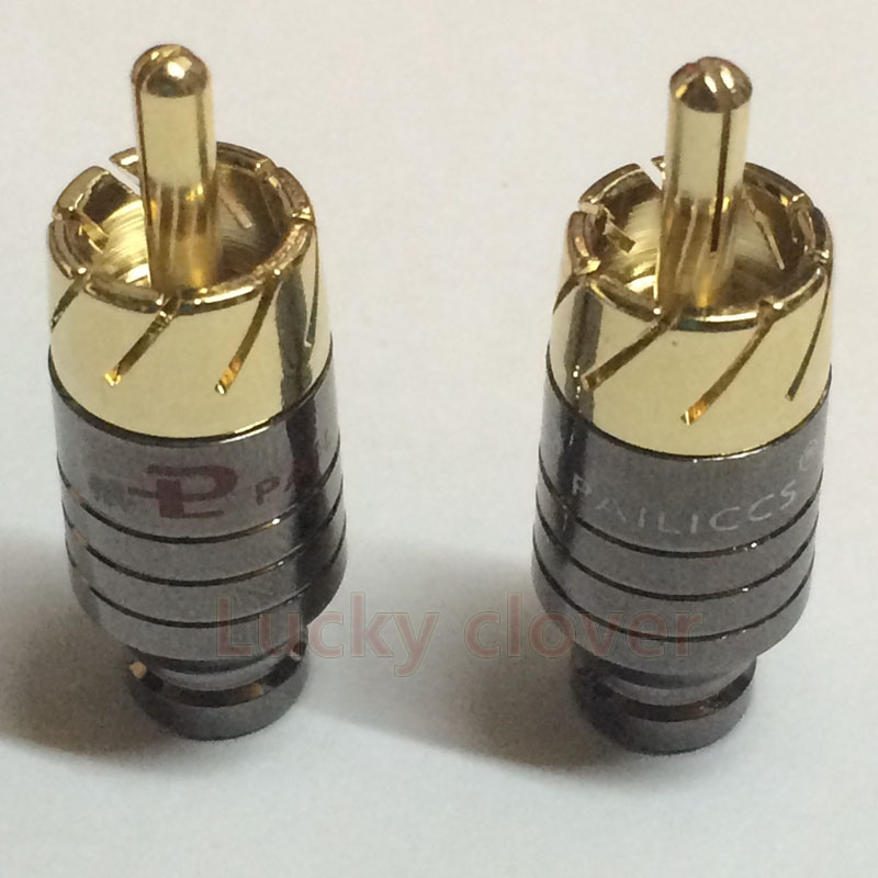 10pcs Pailiccs Copper RCA Plug Gold Plated Audio Video Adapter Connector
