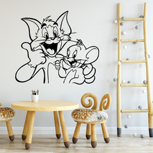 Modern Tom And Jerry Wall Sticker Home Decor Decoration For Party Wallpaper