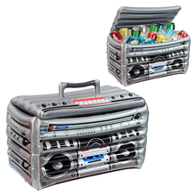 цена на 63*35*33cm Inflatable Cooler HIP HOP Radio Model Ice Bucket Halloween Party Supply Christmas Decoration Toys Outdoor Tableware
