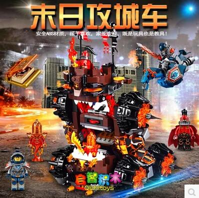 ФОТО New LEPIN 14018 Nexus Knights Siege Machine Model building kits city 3D blocks 544pcs Nexoe Educational children toys 70321