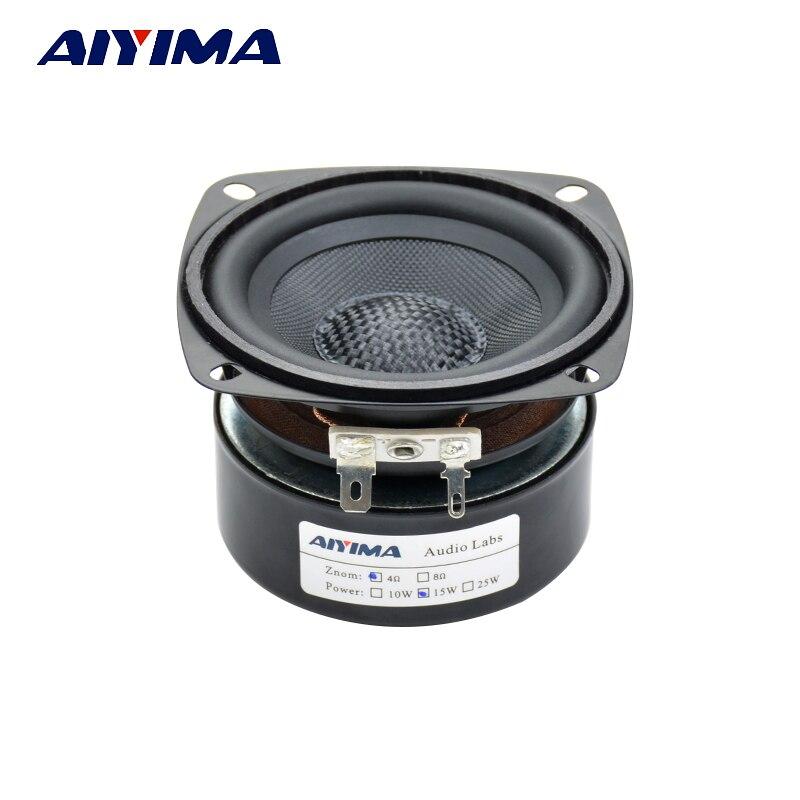 AIYIMA 1Pcs 3Inch Audio Portable Speakers Fiberglass Fever Full Range Speaker 4Ohm 15W Double Magnetic Home Speakers
