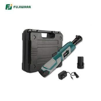 FUJIWARA Elektro Ratsche Drehmoment Wrench 3/8 Zoll 12V Ratsche 1500mAh Tragbare Wiederaufladbare Auto Reparatur Werkzeug
