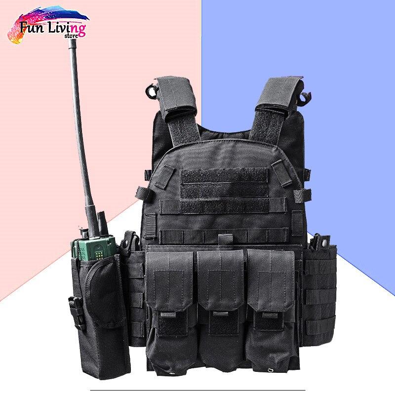 Bolsa Táctica De Caza Armadura De Cuerpo Al Aire Libre Jpc Plate Carrier Vest Ammo Revista Chest Rig Airsoft Paintball Gear Carga Oso Chalecos