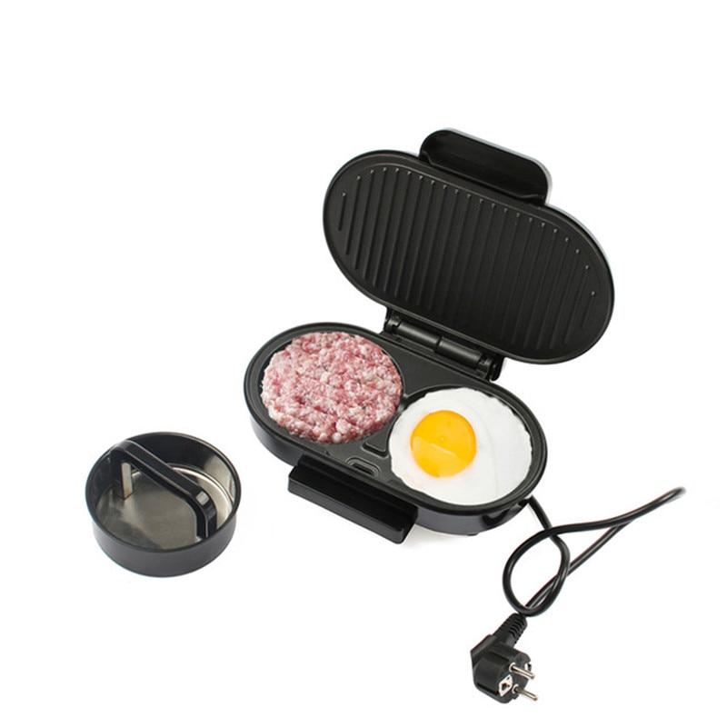 Prise EU intérieur Mini électrique Barbecue Sandwich fabricant gril Barbecue poêle gril Hamburger petit déjeuner viande rôtissoire Machine