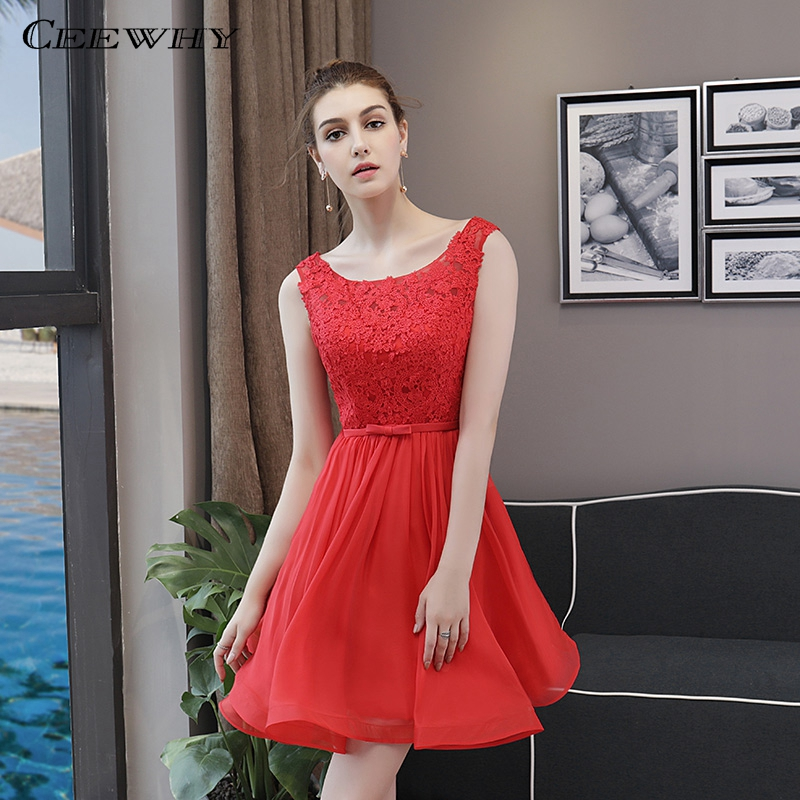CEEWHY Sleeveless Short Party Prom   Dress   Elegant Special Occasion   Dresses   Rode De   Cocktail     Dresses   Summer Vestidos Coctel Mujer