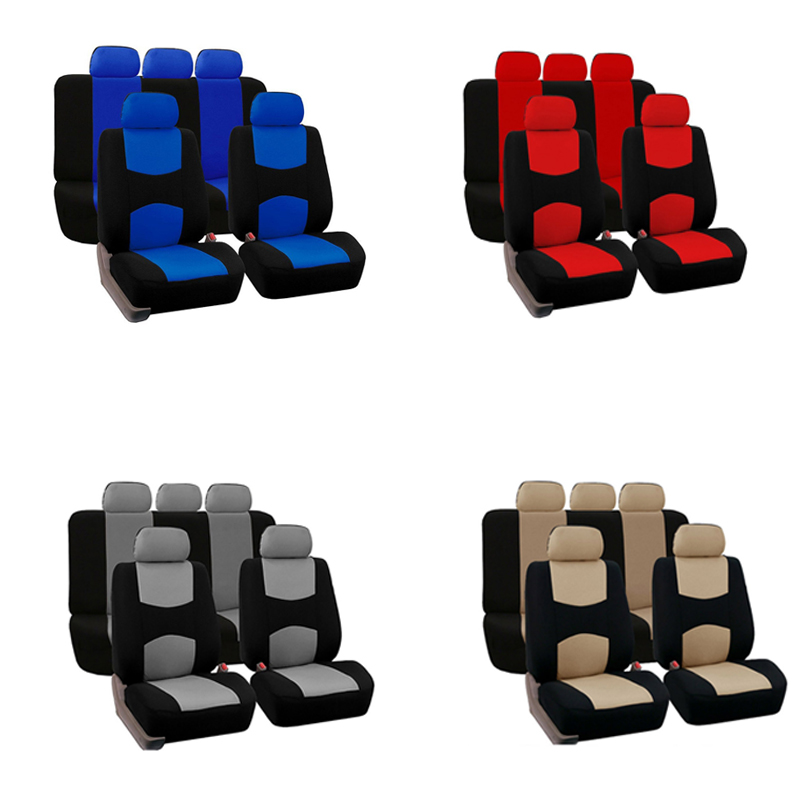 Image 2 - 1 Set 4/9pcs Car Seat Cover General Polyster Dustproof Automobiles Seats Cushion Cover Set Fit For Most Car SUV Or Van-in Automobiles Seat Covers from Automobiles & Motorcycles