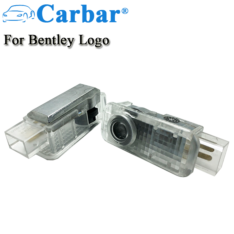Carbar LED Door Courtesy Logo Light For Bentley Wireless Car Shadow Door Light Laser Projector Logo Led Lights LED Courtesy Lamp