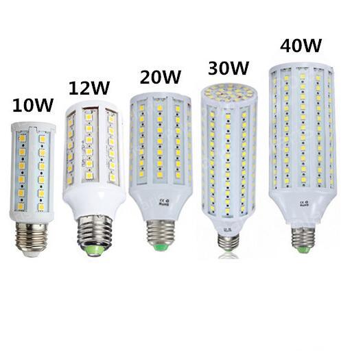 Feee Ship E27 220V Led Corn Light 5050 SMD E27 LED Lamp 10W 12W 20W 30W 40W LED Corn Lights Led Bulb 44 60 86 132 165 SMD