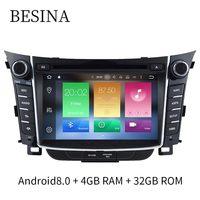 Besina 2 Din Android 8.0 Car DVD Player For Hyundai I30 Elantra GT 2012 2016 Radio WiFi Stereo GPS Navigation 4G+32G Multimedia